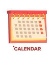 calendar icon annual object date vector image