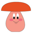 cartoon mushroom with face hand drawn design on vector image vector image