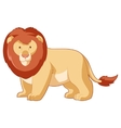 cartoon smiling lion vector image vector image