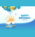 celebrating 24 th years birthday vector image vector image