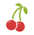 cherry icon isolated on white vector image vector image