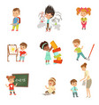 children failures and mistakes set frustrated vector image vector image