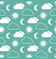 cloud sun and moon seamless pattern vector image vector image