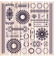 collection of beautiful ornamental vintage vector image vector image