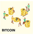 concept of human to find bitcoin image vector image