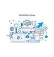 creating plan job plan time management vector image vector image