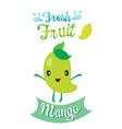 Cute Cartoon Of Mango Fruit Banner Logo vector image vector image