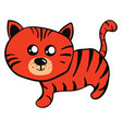 cute little tiger on white background vector image vector image