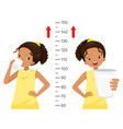 dark girl drinking milk for health and taller vector image vector image