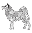 dog adult antistress or children coloring page vector image vector image