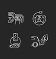 electric car benefits chalk white icons set