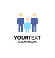 family couple kids health business logo template vector image