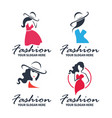 fashion and beauty logo vector image vector image