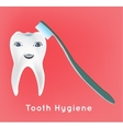 First vecotor tooth vector image vector image