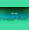 flat banner with landscape background vector image vector image
