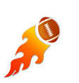 football on fire flames icon vector image