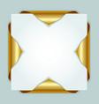 Golden bookmarks vector image vector image