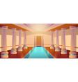 greek temple roman architecture castle corridor vector image