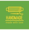 Handmade thin line icon vector image