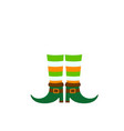 happy patricks day leprechauns boots isolated on vector image vector image
