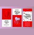 happy valentines day card template set vector image