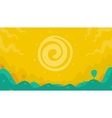 landscape sun and meadow vector image vector image