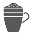 latte glyph icon coffee and cafe coffee mug sign vector image