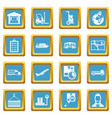 logistic icons azure vector image vector image
