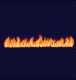 long spark fire concept background realistic vector image vector image