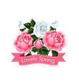 lovely spring creative poster vector image vector image