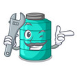 mechanic cartoon water tank for in agriculture vector image