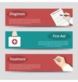 Medicine flat banners set vector image