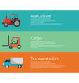 modern creative flat design logistics and vector image vector image