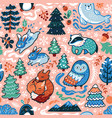 new year and christmas seamless pattern with vector image vector image