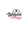 Nurse lettering quote typography