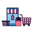 online shopping ecommerce concept vector image vector image