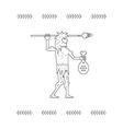 Paleo Man vector image vector image