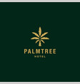 palm tree gold elegant logo coconut tree