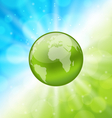 Planet earth on glowing abstract background vector image vector image