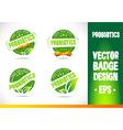 Probiotics Badge Logo vector image vector image