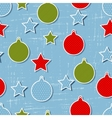 Retro Christmas Pattern vector image vector image