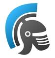 Rome Helmet Gradient Icon vector image vector image