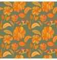 seamless botanic printed pattern vector image