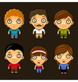 Set of funny people Cartoon characters vector image