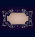 silver vintage frame template vector image