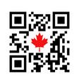 smartphone readable qr code with canadian maple vector image vector image