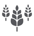 spikelet glyph icon farm and agriculture wheat vector image