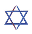 Star of David sign on white vector image