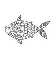 stylized fish isolated on white background vector image vector image