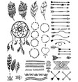 tribal pack icon set sketch vector image